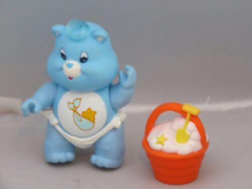 Vintage Care Bears Posierbar Baby Tugs Bär W Eimer Zubehör Sehr Sauber Teddys