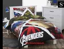SINGLE BED AVENGERS SUPER HERO BOYS QUILT DOONA COVER + PILLOWCASE SET!