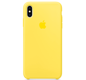 iPhone-XS-Max-Apple-Echt-Original-Silikon-Huelle-Silicone-Case-Kanariengelb