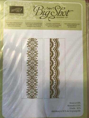 Stampin UP Texture Impressions Embossing Folders/_Rare Retired