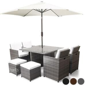 Rattan-Garden-Dining-8-Seat-set-Patio-furniture-cube-Flip-Back-Chairs-Parasol
