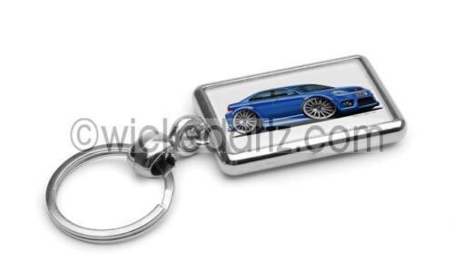 RetroArtz Cartoon Car Ford Mondeo ST220 in Blue Premium Metal Key Ring
