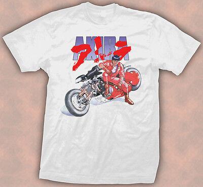 Akira Kaneda Japanese Retro Anime White T-Shirt Tee Size L, M, XL