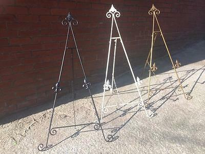 SILVER Coloured Iron Easel 24 inch Holder Display Artwork Picture Canvas Menu Book Plate Craft Stand AA-23-24
