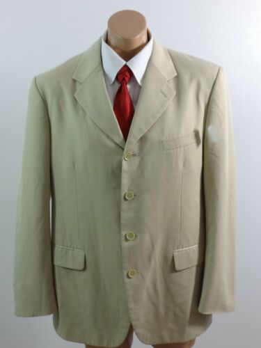 Top SOHO CLOTHING CO MENS KHAKI POLYESTER BLEND SPORTS COAT SIZE 42R supplier