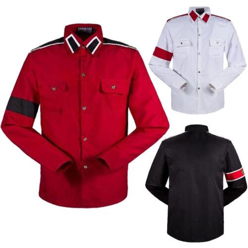 Unisex Michael Jackson CTE Style Armband Epaulet Shirts MJ Casual Shirt Costumes