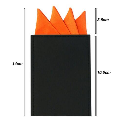 Tie Co Premium Collection Pocket Square Satin Hanky Handkerchief Pre Fold Point