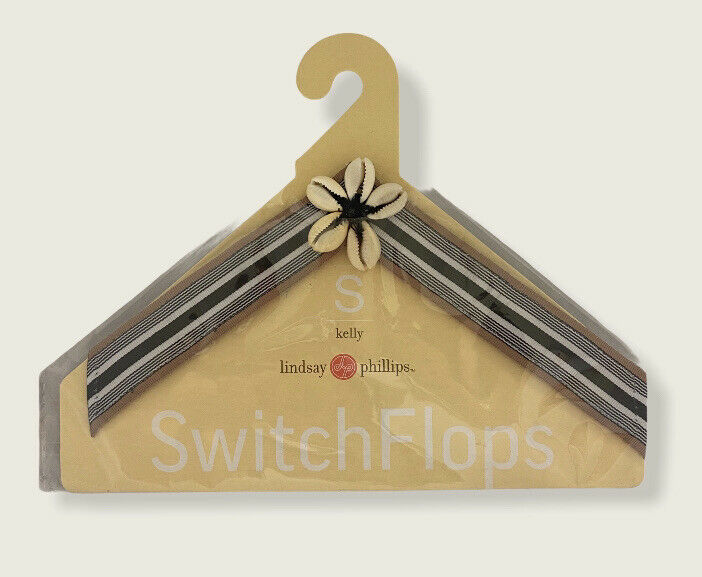 NWT Lindsey Phillips Kelly Switch Flops Straps sz Small 5 6 US Exchangeable Flip