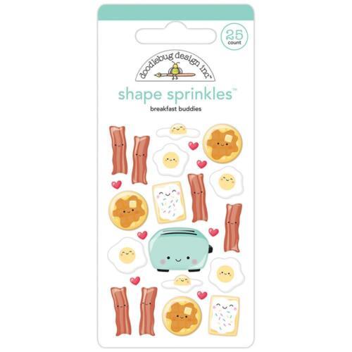 Doodlebug ~ SO PUNNY ~ Shape Sprinkles ~ Breakfast Buddies ~ Enamel Dots