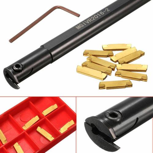 MGIVR2016-2 Lathe Turning Tool Boring Bar Holder Wrench 10pc MGMN200 Inserts