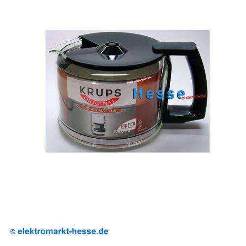 Krups Glaskrug f034.42 10-tasses noir avec couvercle pour Duothek Proaroma entre autres,