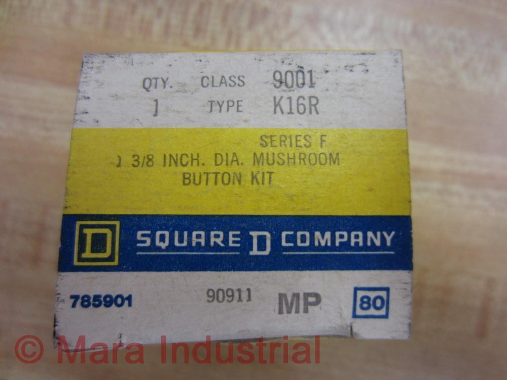 Square D 9001K16R Mushroom Button Kit Ser.h Lotof4 for sale online