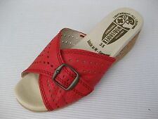 Worishofer Womens Shoes NEW $65 251 Red Watermelon Leather Slide 36 5.5 6