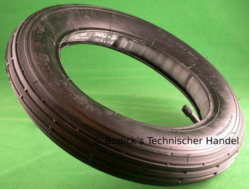 Schlauch 12.1//2x2.1//4 12,5x2,25 62-203 AV Kinderwagen Roller Rad 2 x Reifen