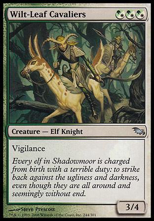 1x Wilt-Leaf Cavaliers Shadowmoor MtG Magic Hybrid Uncommon 1 x1 Card Cards