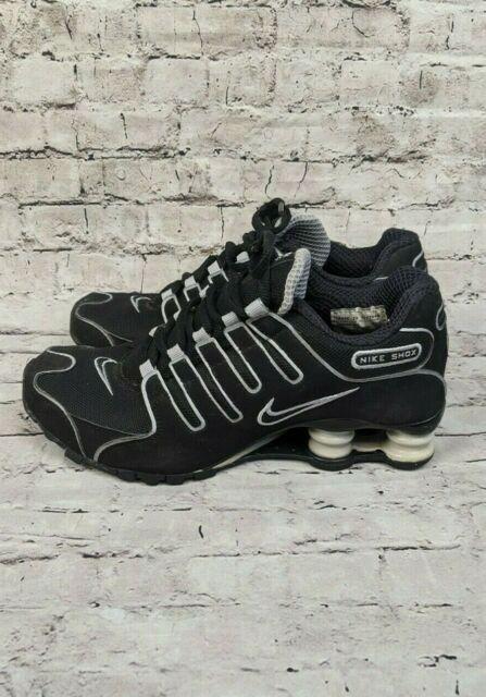 Nike Shox NZ Black Silver Sneaker Shoes Size Womens 7 UK sz 4.5