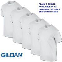White 1 5 10 20 Pack Mens Blank Gildan Plain Cotton Tshirt T Shirt Tee Top Lot