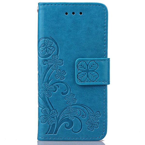 Leaf Patterned Card Holder Stand PU Leather Wallet Case Cover For Huawei iPhone