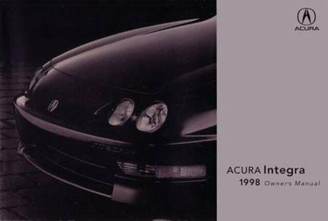 1998 Acura Integra Owners Manual