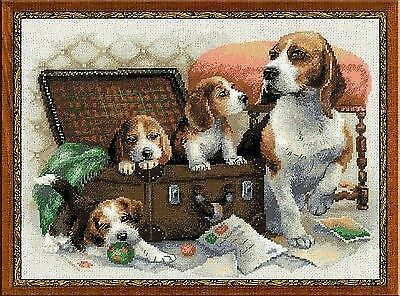 Counted Cross Stitch Kit RIOLIS DOG FAMILY