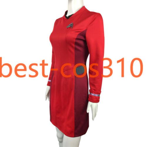 Cosplay Star Trek Beyond Nyota Uhura Red Dress Carol Marcus Blue Uniform Yellow