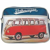 Vw Original Red Campervan Retro Bag Messenger School Over Shoulder Bag