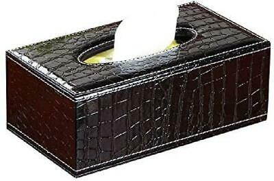 Luxspire Home Car PU Leather Rectangular Paper Tissue Box Cover Napkin Holder