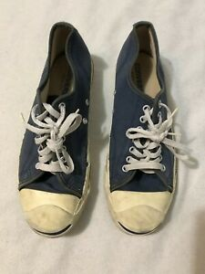 f84b0793b564 Vintage CONVERSE Low Top Canvas JACK PURCELL Blue Shoes Made in USA ...