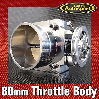 NEW 80mm Universal Throttle Body /& Plenum Flange For Nissan Skyline RB25 R33 R34