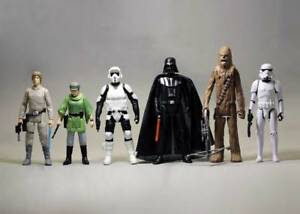 Lot-of-6-Star-Wars-Luke-Skywalker-Leia-Vader-Chewbacca-Stormtrooper-3-75-034-Figure