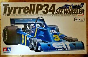 Tamiya-Tyrrell-P34-Six-Wheeler-F1-1976-Scheckter-Depailler-Model-Kit-1-12-boxed