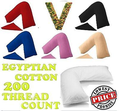 Schietto 200tc 100% Cotone Egiziano Forma Di V Ortopedico Maternità Infermieristico Federa-