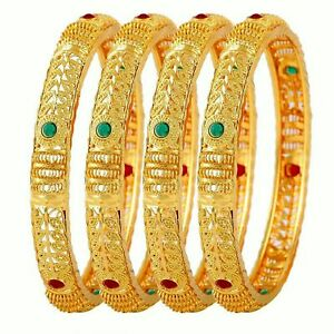 79a399978 Image is loading Indian-Traditional-Gold-Plated-Bollywood-Ethnic-Polki- Bangle-