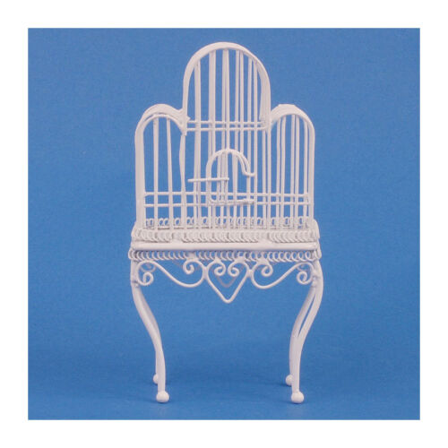 SA-Dolls House df561 Grande cage à oiseaux blanc 1:12 pour maison de poupée NOUVEAU #