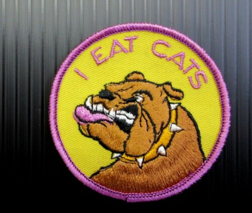 New Vintage  I EAT CATS  Patch  Snowmobile Embroidered