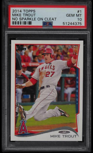 2014-TOPPS-MIKE-TROUT-NO-SPARKLE-ON-CLEAT-1-PSA-10-GEM-MINT-ANGELS