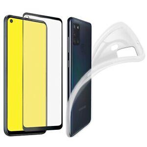 Coque pour Samsung Galaxy A21S Transparente + Verre Trempé intégral