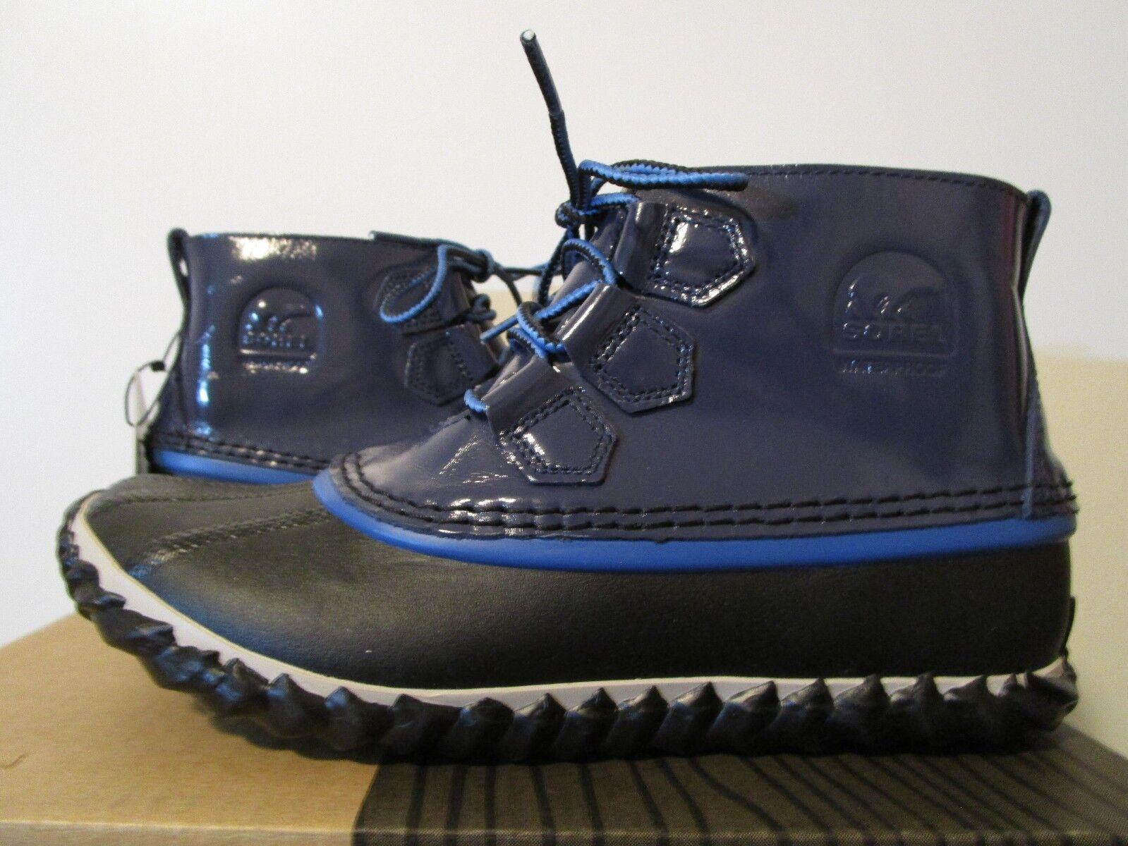 Damenschuhe Sorel Out N About Waterproof Schuhes Leder Fashion Rain Stiefel Nocturnal