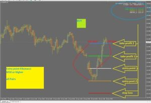 R018 Entry Point Fibonacci System Indicator Forex For Metatrader 4