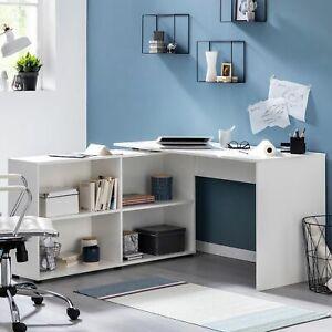 Modern Weiß Eckschreibtisch Zimmer Mdf Computertisch Büro Pc