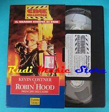 VHS film cartonata ROBIN HOOD 1994 Kevin Costner Freeman FABBRI*VIDEO(F92)no*dvd
