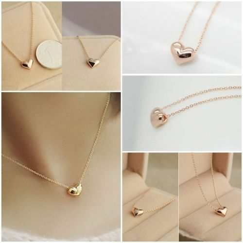 8 x Gold Heart Necklaces Wholesale Joblot Car Boot Jewellery U.K. :::::::