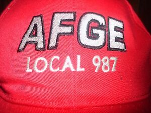 Details about AFGE LOCAL 987 UNION BALL CAP SNAPBACK snap back ADULT RED  ONE SIZE FITS MOST