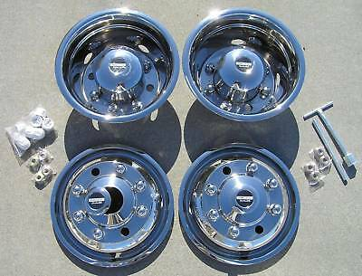 """19.5/"""" Chevy GMC 4500 5500 Dually Wheel Simulators front pair bolt on steel"""