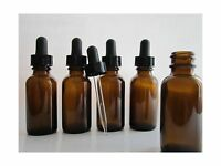 Silver Spur 1-oz Amber Glass Bottles For Essential Oils With Gl... Free Shipping