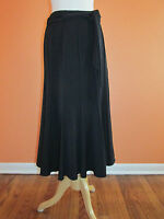 Lena Gabrielle Size 8 Black Stretch Gored A-line Swing Long Length Skirt