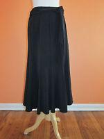 Lena Gabrielle Size 8 Black Stretch Gored A-line Swing Long Length Skirt