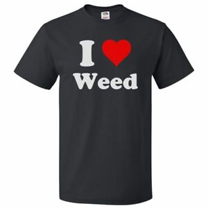Details about I Heart Weed T shirt I Love Weed Tee