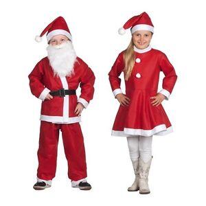 Descrizione Di Babbo Natale Per Bambini.Vestito Vestitino Per Bambini Babbo Natale Bambini E Bambine Da 6 A 9 Anni Rosso Ebay