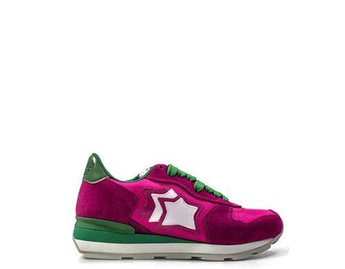 Scarpe ATLANTIC STARS Donna Sneakers Trendy  ROSA Pelle naturale,Scamosciato,Tes